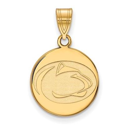 Picture of Penn State University Nittany Lions Sterling Silver Gold Plated Medium Disc Pendant