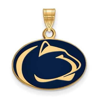 Picture of Penn State University Nittany Lions Sterling Silver Gold Plated Small Enameled Pendant