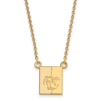Picture of Pittsburgh State University Gorillas Sterling Silver Gold Plated Sm Necklace