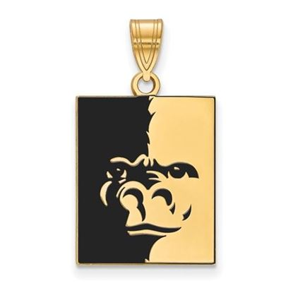 Picture of Pittsburgh State University Gorillas Sterling Silver Gold Plated Large Enameled Pendant