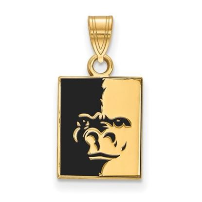 Picture of Pittsburgh State University Gorillas Sterling Silver Gold Plated Small Enameled Pendant