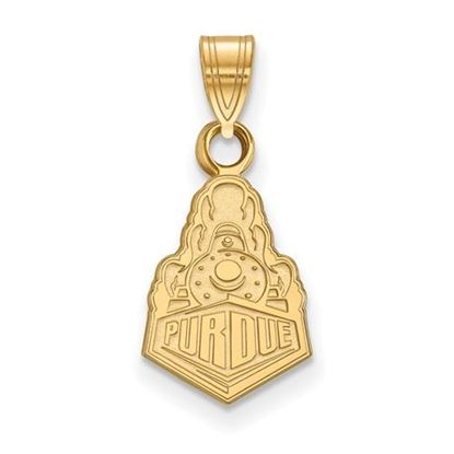 Picture of Purdue University Boilermakers Sterling Silver Gold Plated Small Pendant
