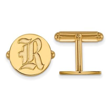 Picture of Rice University Owls Sterling Silver Gold Plated Cuff Links