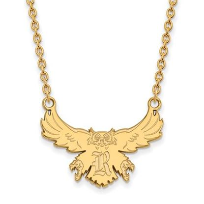 Picture of Rice University Owls Sterling Silver Gold Plated Large Necklace