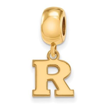 Picture of Rutgers University Scarlet Knights Sterling Silver Gold Plated Extra Small Bead Charm