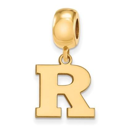 Picture of Rutgers University Scarlet Knights Sterling Silver Gold Plated Small Dangle Bead