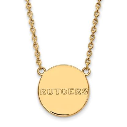 Picture of Rutgers University Scarlet Knights Sterling Silver Gold Plated Large Disc Necklace