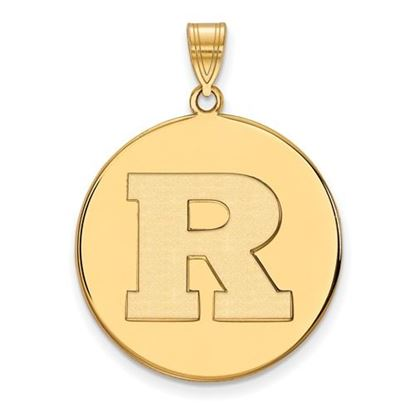 Picture of Rutgers University Scarlet Knights Sterling Silver Gold Plated Extra Large Disc Pendant