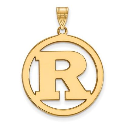 Picture of Rutgers University Scarlet Knights Sterling Silver Gold Plated Large Circle Pendant