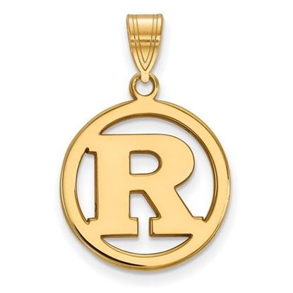 Picture of Rutgers University Scarlet Knights Sterling Silver Gold Plated Small Circle Pendant