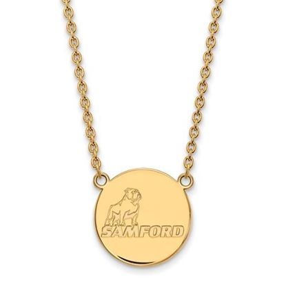 Picture of Samford University Bulldogs Sterling Silver Gold Plated Large Necklace
