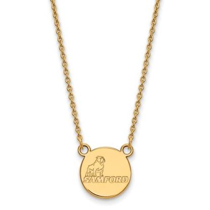 Picture of Samford University Bulldogs Sterling Silver Gold Plated Small Necklace