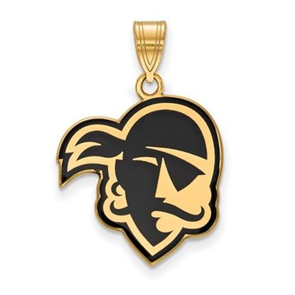 Picture of Seton Hall University Pirates Sterling Silver Gold Plated Large Enameled Pendant