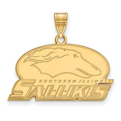 Picture of Southern Illinois University Salukis Sterling Silver Gold Plated Medium Pendant