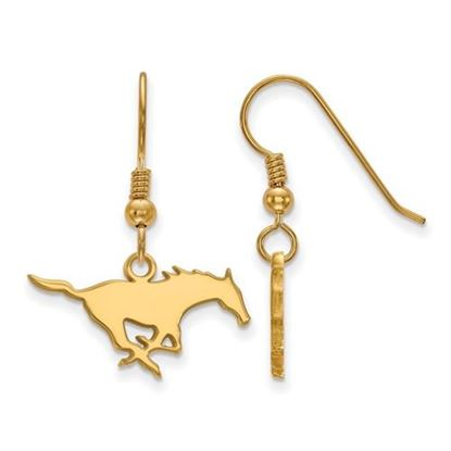 Picture of Southern Methodist University Mustangs Sterling Silver Gold Plated Small Dangle Earrings
