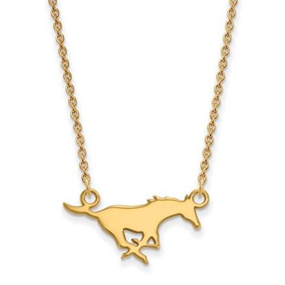 Picture of Southern Methodist University Mustangs Sterling Silver Gold Plated Small Necklace