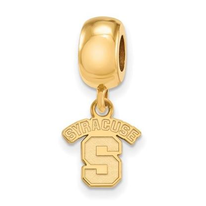 Picture of Syracuse University Orange Sterling Silver Gold Plated Extra Small Bead Charm