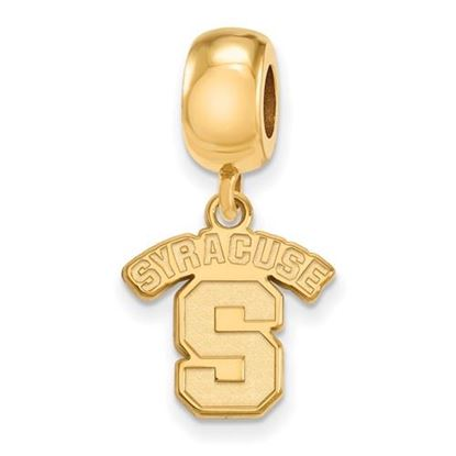 Picture of Syracuse University Orange Sterling Silver Gold Plated Small Dangle Bead