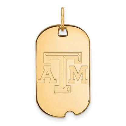 Picture of Texas A&M University Aggies Sterling Silver Gold Plated Small Dog Tag