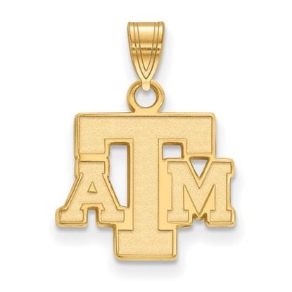 Picture of Texas A&M University Aggies Sterling Silver Gold Plated Small Pendant