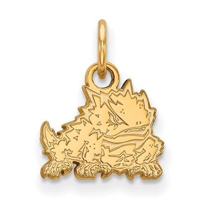 Picture of Texas Christian University Horned Frogs Sterling Silver Gold Plated Extra Small Pendant