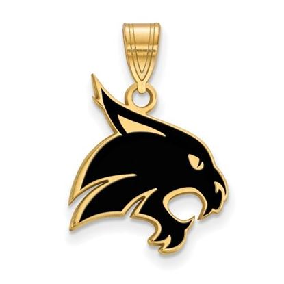 Picture of Texas State University Gold Plated Large Enameled Pendant
