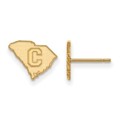 Picture of The Citadel Bulldogs Sterling Silver Gold Plated Extra Small Post Earrings