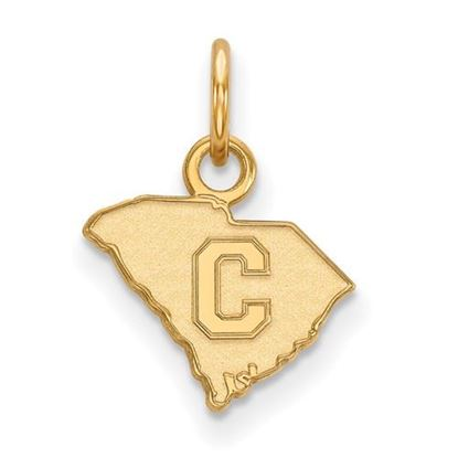 Picture of The Citadel Bulldogs Sterling Silver Gold Plated Extra Small Pendant