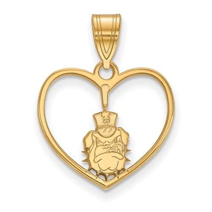 Picture of The Citadel Bulldogs Sterling Silver Gold Plated Heart Pendant