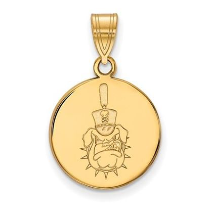 Picture of The Citadel Bulldogs Sterling Silver Gold Plated Medium Disc Pendant
