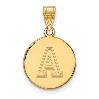 Picture of U.S. Military Academy Black Knights Sterling Silver Gold Plated Medium Disc Pendant