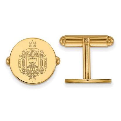 Picture of U.S. Naval Academy Midshipmen Sterling Silver Gold Plated Crest Cuff Links