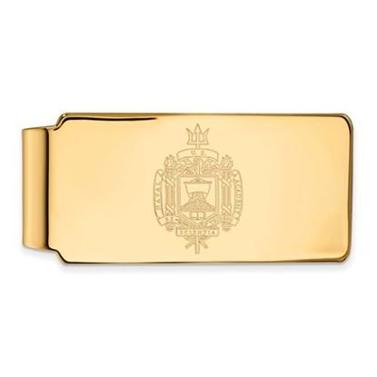 Picture of U.S. Naval Academy Midshipmen Sterling Silver Gold Plated Crest Money Clip
