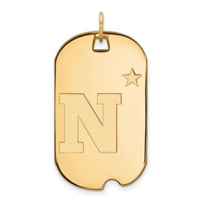 Picture of U.S. Naval Academy Midshipmen Sterling Silver Gold Plated Large Dog Tag