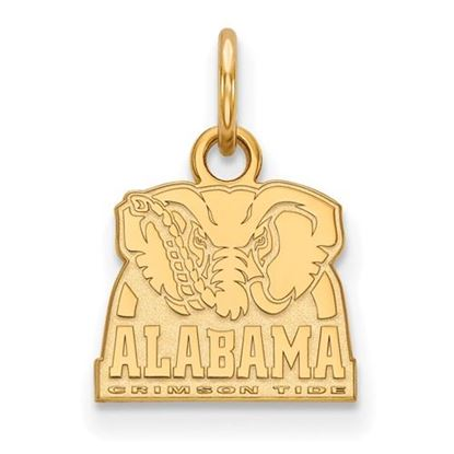Picture of University of Alabama Crimson Tide Sterling Silver Gold Plated Extra Small Pendant