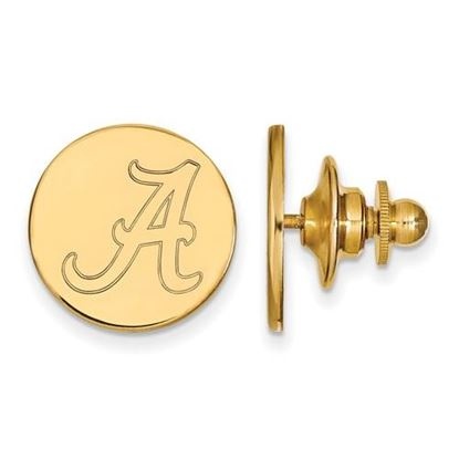 Picture of University of Alabama Crimson Tide Sterling Silver Gold Plated Lapel Pin