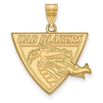 Picture of University of Alabama at Birmingham Blazers Sterling Silver Gold Plated Large Pendant