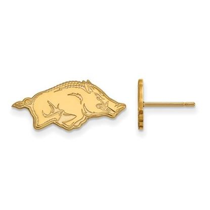 Picture of University of Arkansas Razorbacks Sterling Silver Gold Plated Extra Small Post Earrings