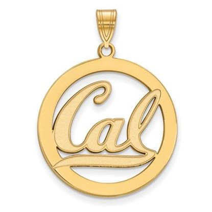 Picture of University of California Berkeley Golden Bears Sterling Silver Gold Plated Large Circle Pendant