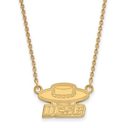 Picture of University of California Santa Barbara Gauchos Sterling Silver Gold Plated Small Necklace
