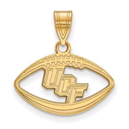 Picture of University of Central Florida Knights Sterling Silver Gold Plated Football Pendant