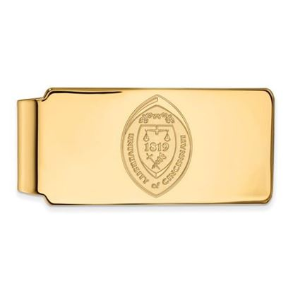 Picture of University of Cincinnati Bearcats Sterling Silver Gold Plated Crest Money Clip