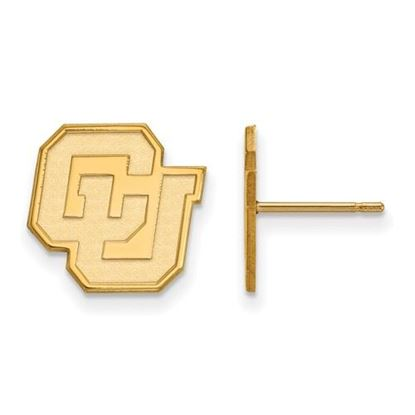 Picture of University of Colorado Buffaloes Sterling Silver Gold Plated Small Post Earrings