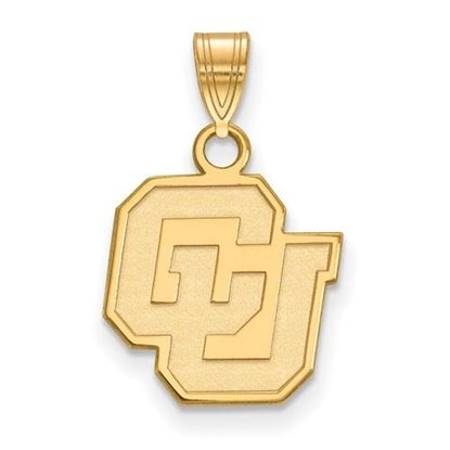 Picture of University of Colorado Buffaloes Sterling Silver Gold Plated Small Pendant
