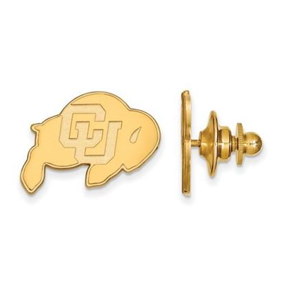 Picture of University of Colorado Buffaloes Sterling Silver Gold Plated Lapel Pin