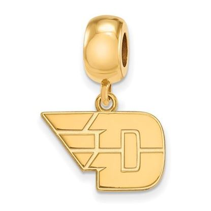 Picture of University of Dayton Flyers Sterling Silver Gold Plated Small Dangle Bead