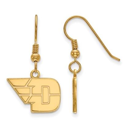 Picture of University of Dayton Flyers Sterling Silver Gold Plated Small Dangle Earrings