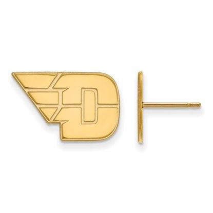 Picture of University of Dayton Flyers Sterling Silver Gold Plated Small Post Earrings