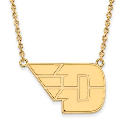 Picture of University of Dayton Flyers Sterling Silver Gold Plated Large Necklace