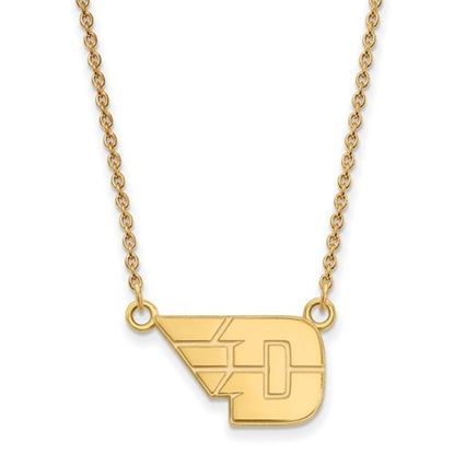 Picture of University of Dayton Flyers Sterling Silver Gold Plated Small Necklace